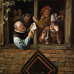 Jan Steen, Dutch , 1625/26-1679 -- Rhetoricians at a Window, Philadelphia Museum of Art