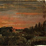 John Constable, English, 1776-1837 -- View toward the Rectory, East Bergholt, Philadelphia Museum of Art