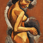 Roger de La Fresnaye, French, 1885-1925 -- Nude, Philadelphia Museum of Art