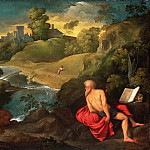 Paris Bordone , Italian , 1500-1571 -- Saint Jerome in the Wilderness, Philadelphia Museum of Art