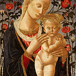 Pseudo Pier Francesco Fiorentino, Italian , active c. 1445-1475 -- Virgin and Child before a Rose Hedge, Philadelphia Museum of Art