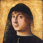 Antonello da Messina, Italian , first securely documented 1456, died 1479 -- Portrait of a Young Gentleman, Philadelphia Museum of Art