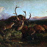 Philadelphia Museum of Art - Sir Edwin Landseer, English, 1802-1873 -- Morning (Two Dead Stags and a Fox)