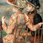 Pierre-Auguste Renoir, French, 1841-1919 -- Two Girls, Philadelphia Museum of Art