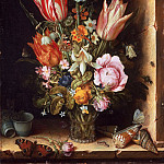 Christoffel van den Berghe, Dutch , active c. 1617-c. 1642 -- Still Life with Flowers in a Vase, Philadelphia Museum of Art