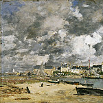 Eugène-Louis Boudin, French, 1824-1898 -- View of Trouville, Philadelphia Museum of Art