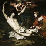 Luca Giordano, Italian , 1632-1705 -- Saint Sebastian Cured by Irene, Philadelphia Museum of Art
