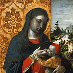 Vincenzo Foppa, Italian , born 1427- 30, died 1515/16 -- Virgin and Child before a Landscape, Philadelphia Museum of Art