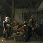 Philadelphia Museum of Art - Jan Steen, Dutch (active Leiden, Haarlem, and The Hague), 1625/26-1679 -- Tavern Scene with a Pregnant Hostess
