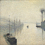 L'Île Lacroix, Rouen (The Effect of Fog), Camille Pissarro