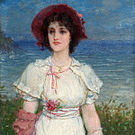 Edwin Austin Abbey, American, 1852-1911 -- Young Woman in White by the Sea, Philadelphia Museum of Art
