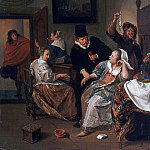 Jan Steen, Dutch , 1625/26-1679 -- The Doctor's Visit, Philadelphia Museum of Art
