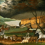 Edward Hicks, American, 1780-1849 -- Noah's Ark, Philadelphia Museum of Art