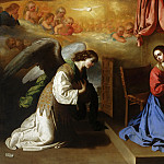 Francisco de Zurbarán, Spanish, 1598-1664 -- The Annunciation, Philadelphia Museum of Art