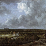 Jacob Isaacksz. van Ruisdael, Dutch , 1628/29-1682 -- Bleaching Fields to the North-Northeast of Haarlem, Philadelphia Museum of Art