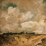 Philadelphia Museum of Art - John Constable, English, 1776-1837 -- Road to the Spaniards, Hampstead