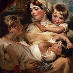 George Henry Harlow, English, 1787-1819 -- Portrait of a Mother and Her Children [possibly Mrs. Weddell], Philadelphia Museum of Art