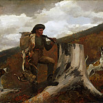 Winslow Homer, American, 1836-1910 -- A Huntsman and Dogs, Philadelphia Museum of Art
