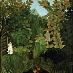 Henri-Julien-Félix Rousseau, French, 1844-1910 -- The Merry Jesters, Philadelphia Museum of Art