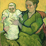 Vincent Willem van Gogh, Dutch, 1853-1890 -- Portrait of Madame Augustine Roulin and Baby Marcelle, Philadelphia Museum of Art