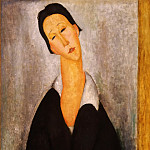 Amedeo Modigliani, Italian, 1884-1920 -- Portrait of a Polish Woman, Philadelphia Museum of Art
