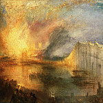 Joseph Mallord William Turner, English, 1775-1851 -- The Burning of the Houses of Lords and Commons, October 16, 1834, Philadelphia Museum of Art