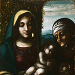 Philadelphia Museum of Art - Correggio (Antonio di Pellegrino Allegri), Italian (active Parma), 1489-1534 -- Virgin and Child, with Saint Elizabeth and the Young Saint John the Baptist