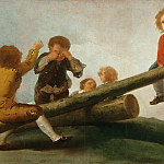 Francisco José de Goya y Lucientes, Spanish, 1746-1828 -- The Seesaw, Philadelphia Museum of Art