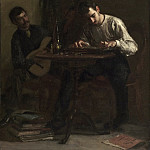 Thomas Eakins, American, 1844-1916 -- Professionals at Rehearsal, Philadelphia Museum of Art