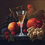 Severin Roesen, American , c. 1815-c. 1872 -- Still Life with Fruit and a Wine Glass, Philadelphia Museum of Art