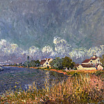 Alfred Sisley, French, 1839-1899 -- The Seine at Billancourt, Philadelphia Museum of Art