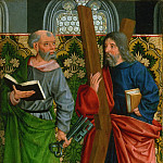 Master of the Holy Kinship, German , c. 1450-c. 1515 -- Saints Peter and Andrew, Philadelphia Museum of Art