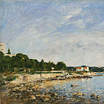 Eugène-Louis Boudin, French, 1824-1898 -- Le Cap, Antibes, Philadelphia Museum of Art