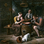 Jan Steen, Dutch , 1625/26-1679 -- Prayer before the Meal, Philadelphia Museum of Art