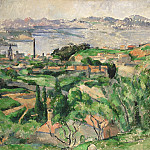 Paul Cézanne, French, 1839-1906 -- View of the Bay of Marseille with the Village of Saint-Henri, Philadelphia Museum of Art