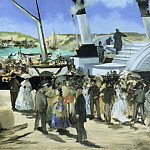 Édouard Manet, French, 1832-1883 -- The Folkestone Boat, Boulogne, Philadelphia Museum of Art