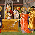 Philadelphia Museum of Art - Benozzo Gozzoli (Benozzo di Lese di Sandro), Italian (active Florence and Pistoia), born c. 1421-22, died 1497 -- Purification of the Virgin