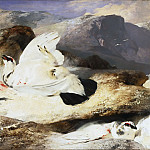 Sir Edwin Landseer, English, 1802-1873 -- Ptarmigan in a Landscape, Philadelphia Museum of Art