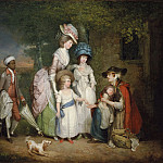 William Redmore Bigg, English, 1755-1828 -- A Lady and Her Children Relieving a Cottager, Philadelphia Museum of Art