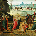 Jacopo del Sellaio , Italian , 1441/42-1493 -- The Reconciliation of the Romans and Sabines, Philadelphia Museum of Art