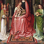 Philadelphia Museum of Art - Gerard David, Netherlandish (active Bruges), first documented 1484, died 1523 -- Enthroned Virgin and Child, with Angels