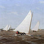 Sailboats Racing on the Delaware, Thomas Eakins