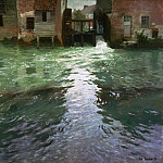 Frits Thaulow, Norwegian, 1847-1906 -- Water Mill, Philadelphia Museum of Art