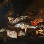 Abraham van Beyeren, 1620/21-1690 -- Still Life with Fish, Philadelphia Museum of Art