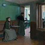 Philadelphia Museum of Art - Santiago Rusiñol, Spanish, 1861-1931 -- Interior of a Café