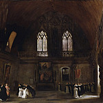 Ferdinand-Victor-Eugène Delacroix, French, 1798-1863 -- Interior of a Dominican Convent in Madrid, Philadelphia Museum of Art