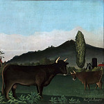 Henri-Julien-Félix Rousseau, French, 1844-1910 -- Landscape with Cattle, Philadelphia Museum of Art