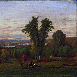 George Inness, American, 1825-1894 -- Landscape near Medfield, Massachusetts, Philadelphia Museum of Art