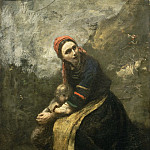 Jean-Baptiste-Camille Corot, French, 1796-1875 -- Mother Protecting Her Child, Philadelphia Museum of Art
