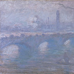Waterloo Bridge, Morning Fog, Claude Oscar Monet
